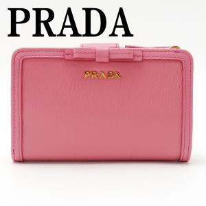 プラダ PRADA 財布 二つ折り財布 レディース VITELLO MOVE GERANIO ピンク 1ML225-2B32-F0410|zeitakuya