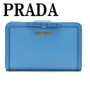 プラダ PRADA 財布 二つ折り財布 レディース VITELLO MOVE MARE 1ML225-2B32-F0P9S|zeitakuya