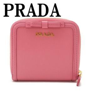 プラダ PRADA 財布 二つ折り財布 レディース VITELLO MOVE GERANIO ピンク 1ML522-2B32-F0410|zeitakuya