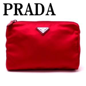 プラダ PRADA ポーチ コスメポーチ 化粧ポーチ ROSSO 赤 1NA011-2BQP-F0011|zeitakuya