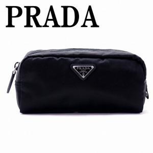 プラダ PRADA ポーチ コスメポーチ 化粧ポーチ 黒 NERO 小物 ロゴ 1NA350-2BQP-F0002|zeitakuya