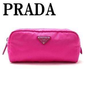 プラダ PRADA ポーチ コスメポーチ 化粧ポーチ ピンク 小物 ロゴ 1NA350-2BQP-F0029|zeitakuya