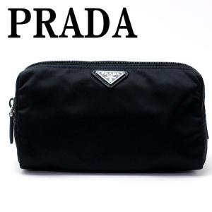 プラダ PRADA ポーチ コスメポーチ 化粧ポーチ ブラック 黒 小物 ロゴ 1NA693-2BQP-F0002|zeitakuya