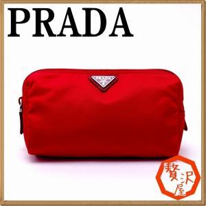 プラダ PRADA ポーチ コスメポーチ 化粧ポーチ ピンク 小物 ロゴ 1NA693-ZMX-F0011|zeitakuya