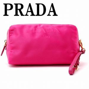 プラダ PRADA バッグ ポーチ クラッチバッグ ピンク 小物 ロゴ 1NE693-2BQQ-F0505|zeitakuya