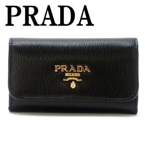 プラダ PRADA キーケース 6連 VITELLO MOVE NERO 黒 レディース 1PG222-2B6P-F0002|zeitakuya