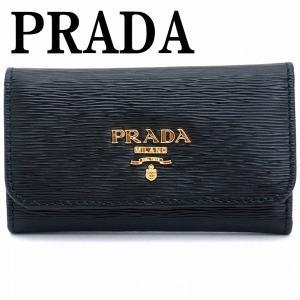 プラダ キーケース PRADA 6連 VITELLO MOVE NERO 黒 レディース 1PG222-2EZZ-F0002|zeitakuya