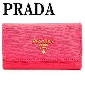 プラダ キーケース PRADA 6連 VITELLO MOVE ペオニアピンク レディース 1PG222-2EZZ-F0505
