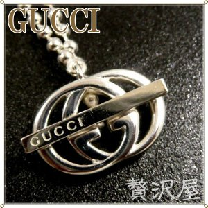 GUCCIグッチ ネックレス シルバー925 WG ロゴ ネックレス GUCCI 216433-J8410-1000  zeitakuya