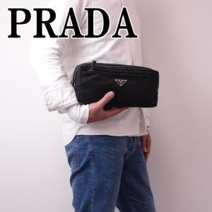 プラダ PRADA メンズ セカンドバッグ クラッチバッグ ポーチ 2NA030-ZMY-F0002|zeitakuya