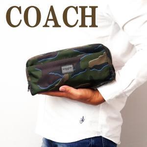 コーチ COACH バッグ メンズ セカンドバッグ トラベル セカンドポーチ カモフラージュ カモ 迷彩柄 30754QBGRU|zeitakuya