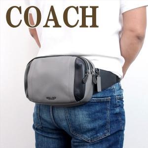 コーチ COACH バッグ メンズ ショルダーバッグ 斜めがけ ウエストバッグ レザー 37594QBHGR|zeitakuya