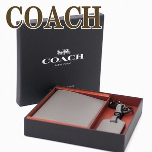 コーチ COACH パスケース メンズ 財布 キーリング キーホルダー ラゲッジタグ 2点セット ギフトセット 38064QBHGR|zeitakuya