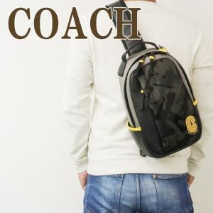 コーチ COACH バッグ メンズ ショルダーバッグ 斜め掛け ワンショルダー Cロゴ レザー 迷彩柄 3995QBM2 zeitakuya