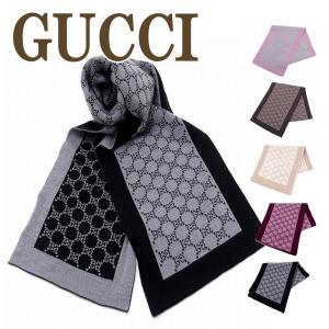 グッチ マフラー GUCCI メンズ レディース 高級ウール GG 421068-3G206|zeitakuya