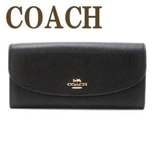コーチ COACH 財布 レディース 長財布 レザー ブラック 黒 ロゴ 54009IMBLK|zeitakuya