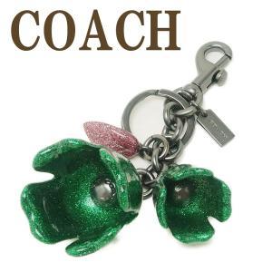 コーチ COACH キーホルダー レディース キーリング バッグチャーム 花 グリッター 58514BKKEL|zeitakuya