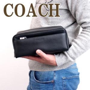 コーチ バッグ メンズ セカンドバッグ COACH クラッチバッグ セカンドポーチ レザー ブランド 58542BLK|zeitakuya
