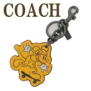 コーチ キーホルダー COACH キーリング ディズニー ミッキー 限定品 59869BKBAN  ネコポス|zeitakuya