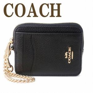 コーチ COACH カードケース コインケース 財布 レディース 定期入れ 小銭入れ レザー ブラック 黒 6303IMBLK  ネコポス|zeitakuya