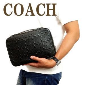 コーチ COACH バッグ メンズ セカンドバッグ クラッチバッグ 財布 セカンドポーチ シグネチャー 66555QBBK|zeitakuya