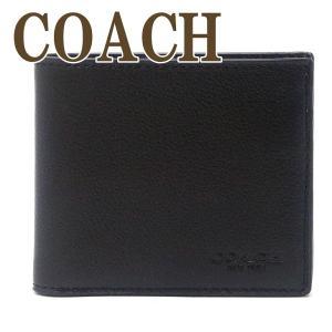 コーチ COACH メンズ 二つ折り財布 カードケース ブラック黒 レザー 67630QBBK|zeitakuya