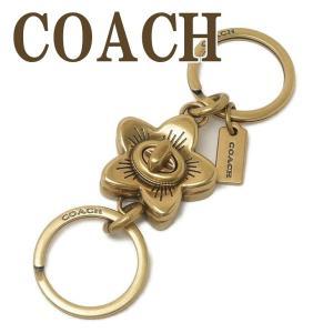 コーチ COACH キーホルダー キーリング レディース メンズ 花 ワイルドフラワー ターンロック 68389GDGD  ネコポス|zeitakuya