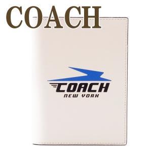 コーチ COACH メンズ パスポートケース レザー ロゴ 73082QBCAH|zeitakuya