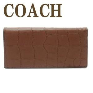 コーチ COACH 財布 メンズ 長財布 二つ折り 本革 レザー 長財布 クロコダイル 73134QBSD|zeitakuya