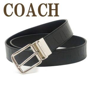 コーチ COACH ベルト メンズ レザー ブラック黒 73136QBBK|zeitakuya