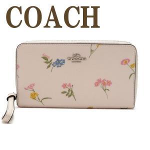 コーチ COACH 財布 レディース 長財布 花柄 ラウンドファスナー iPhoneケース 73337SVCAH zeitakuya