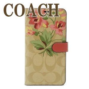 訳ありコーチ COACH iPhone XS Max ケース カバー  アイフォン 手帳型 花柄 75842OUV  ネコポス|zeitakuya