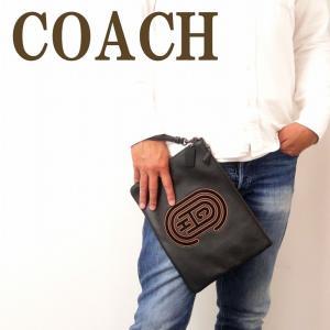 コーチ COACH バッグ メンズ セカンドバッグ クラッチバッグ ポーチ セカンドポーチ ロゴ ブラック 黒 76244BLK|zeitakuya