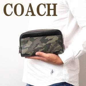 コーチ COACH バッグ メンズ セカンドバッグ クラッチバッグ セカンドポーチ ブランド カモ 迷彩 76854QBGRN|zeitakuya