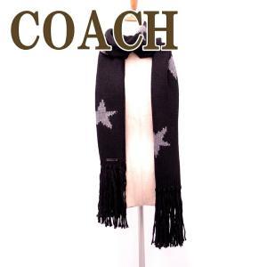 コーチ マフラー COACH レディース メンズ ストール ブラック グレー スター インターシャ スカーフ 86021BKGY|zeitakuya