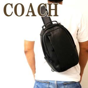コーチ COACH バッグ メンズ ショルダーバッグ 斜め掛け ワンショルダー Cロゴ ブラック 黒 レザー 89908QBBK|zeitakuya