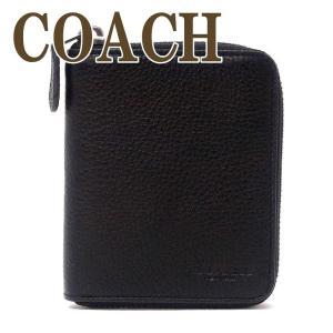 コーチ 財布 メンズ 二つ折り財布 COACH レザー ブラック黒 ラウンドファスナー 91632QBBK|zeitakuya