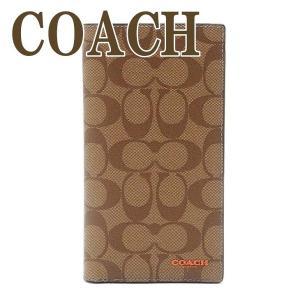 コーチ COACH メンズ パスポートケース 長財布 折り財布 シグネチャー レザー 91645QBQ9J|zeitakuya