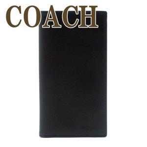 コーチ COACH メンズ パスポートケース 長財布 折り財布 本革 レザー ブラック 黒 91662QBBK|zeitakuya