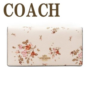 コーチ COACH 財布 レディース 長財布 二つ折り カードケース 花柄 ピンク レザー 91746IMCAH|zeitakuya