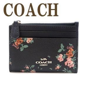 コーチ COACH 財布 レディース キーケース キーリング コインケース レザー ブラック 黒 ピンク 花柄 91788SVF23  ネコポス|zeitakuya