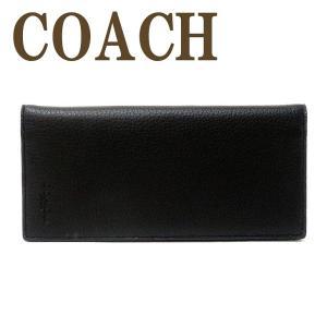 コーチ COACH 財布 メンズ 長財布 二つ折り 本革 レザー 長財布 ブラック黒 91807QBBK|zeitakuya