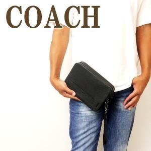 コーチ COACH バッグ メンズ セカンドバッグ クラッチバッグ 財布 セカンドポーチ ブラック黒 93529BLK|zeitakuya