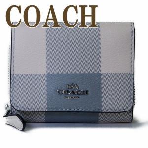 コーチ COACH 財布 三つ折り 折財布 ミニ レディース チェック レザー C1916SVCAH|zeitakuya