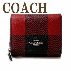 コーチ COACH 財布 三つ折り 折財布 ミニ レディース チェック レザー C1916SVS66|zeitakuya