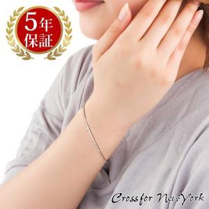 クロスフォーニューヨーク テニスブレスレット クロスフォーカット イージークラスプ 腕輪 Tennis Bracelet NTBR-001 Sparkle|zeitakuya