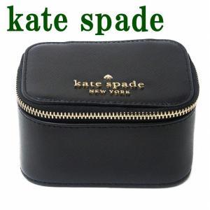 ケイトスペード KateSpade ジュエリーボックス レディース ポーチ ケース レザー ブラック 黒 WLR00140-001|zeitakuya