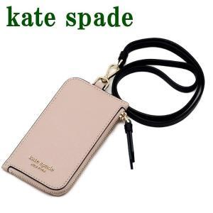 ケイトスペード KateSpade カードケース ネックストラップ IDケース パスケース WLRU5454-195  ネコポス zeitakuya