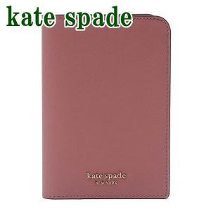 ケイトスペード Kate Spade レディース パスポートケース ロゴ レザー ピンク WLRU5546-682  ネコポス|zeitakuya