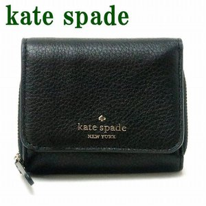 ケイトスペード KateSpade 財布 三つ折り財布レディース ラウンドファスナー コンパクト ブラック 黒 WLRU6328-001|zeitakuya